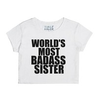 world's most badass sister chop-Female Snow T-Shirt