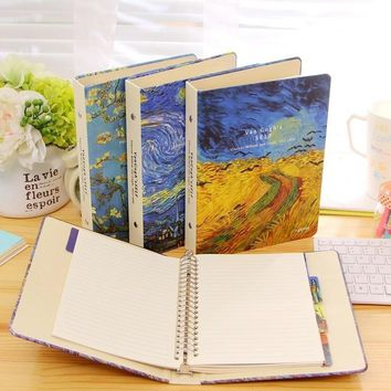 New Vintage A5 Van Gogh Plum Blossom Rye Night Sky classic spiral notebook DIY diary/daily planner/agenda organizer supply gifts