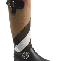 Women's Burberry 'Birkback' Rain Boot (Wide Calf)