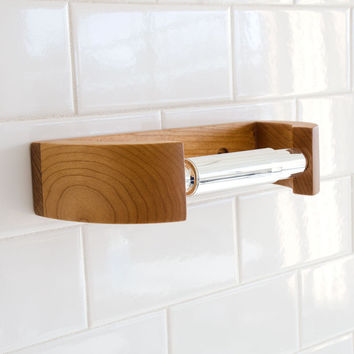 Modern Curve Toilet Paper Holder - Cherry