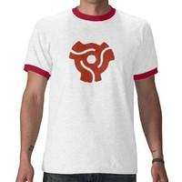 Retro Red 45 Spindle T-Shirt from Zazzle.com