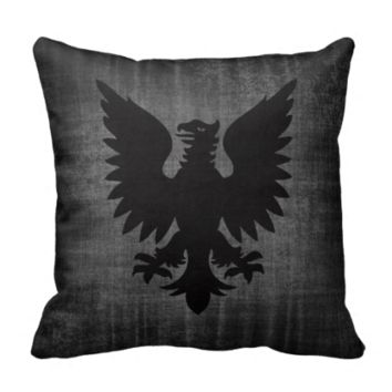 Medieval Black Velvet Cushion Throw Pillow