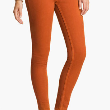 Vigoss Color Skinny Jeans (Burnt Orange) (Juniors) | Nordstrom