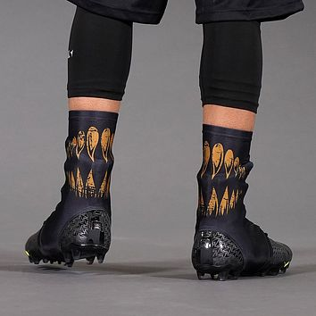Villain Black Gold Spats / Cleat Covers