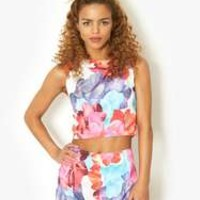 Pink Soda Bright Floral Co-Ord Tank