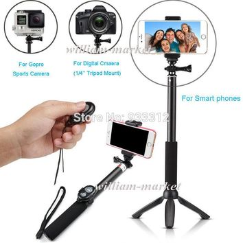 "For Xiaomi yi YUNTENG Tripod+Bluetooth Camera Remote Selfie Stick 39"" Monopod For 6S 5C iOS &C5 Z4 G4 G3 M9 M8 NEO Android Phone"