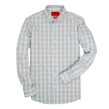 Henning Shirt in Flint Grey & Bungee Cord Plaid by Southern Proper