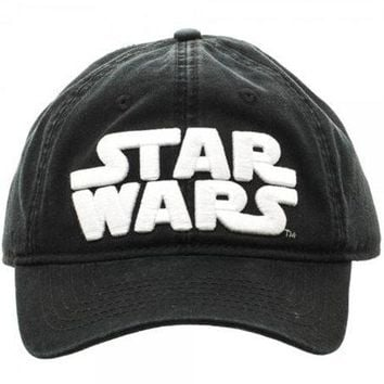Star Wars Logo Adjustable Baseball Hat - PRE-ORDER, SHIPS in JULY