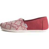 Toms for Women: Classics Red Woven Flats