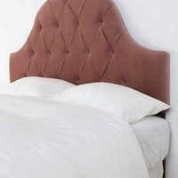 Velvet Tufted Headboard - Dusty Rose- Dusty Rose One