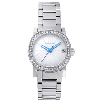 Wittnauer WN4000 Women's Adele Mini Crystal Accented Bezel MOP Dial Stainless Steel Watch