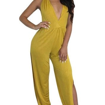 Spaghetti Strap Hollow Out Brazil Jumpsuit