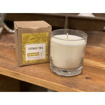 Citrus Tea Hand Poured Soy Candle No. 9 - 7-oz