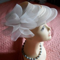 DEBORAH New York HAT -Vintage Summer Hat for the Track or Wedding | SECONDHANDNEL - Accessories on ArtFire