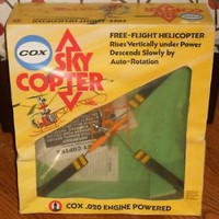 Cox .020 Engine Powered Free-Flight Sky Copter Helicopter 1974
