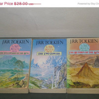 HOLIDAY SALE Vintage Tolkien book, Lord of the rings books, paperback book, old books, J.R.R. Tolkien