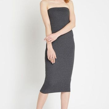 Fit to Flatter Ribbed Midi Dress