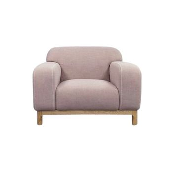 Elsa 1-Seater Lounge Chair - Light Pink | Modern, Mid-Century & Scandinavian | GFURN