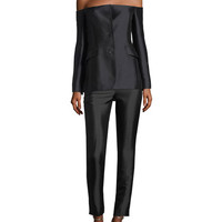 Gabriela Hearst Off-the-Shoulder Silk-Wool Blazer and Matching Items