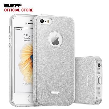 Case for iphone SE, ESR Hybrid three layer case Ultra thin Light Weight Girl Fashion Shining Cover Case for iphone 5s SE 5 5se