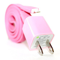 Pink iPhone 5/5s/5c Charger - 1m/3ft iPhone 5/5s/5c Cable and Plug