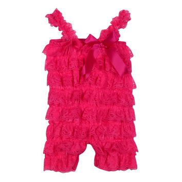 Newborn Toddler Baby Girl's Ruffle Lace Dresses Sling Rompers Jumpsuit Photo Dress