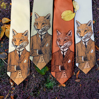 Dapper Fox Necktie - Men's Fox Tie