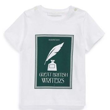 Infant Boy's Burberry 'Great British Writers' Graphic T-Shirt