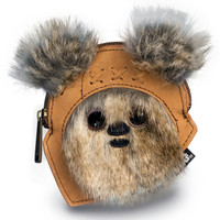"""""""Star Wars Ewok"""" Coin Bag by Loungefly (Tan)"""