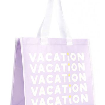 Vacation Reusable Shopper Bag