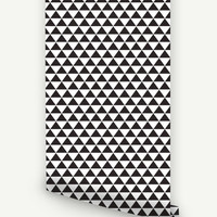Peel and Stick Geometric Triangle Pattern Removable Wallpaper D073