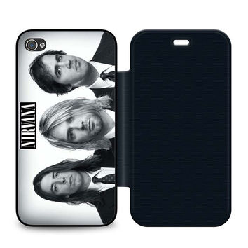 Nirvana Band Leather Wallet Flip Case iPhone 4 | 4S