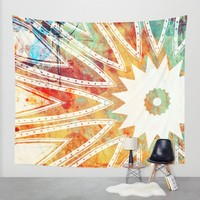 GRUNGE KISS Wall Tapestry by Heaven7 | Society6
