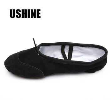 EU24-45 Yoga Slippers Teacher Gym Indoor Exercising Canvas Black Ballet Dance Shoes For Girls Kids Women