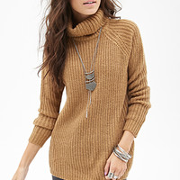 FOREVER 21 Ribbed Turtleneck Sweater
