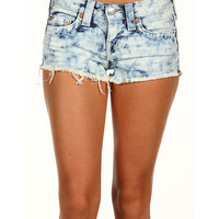 True Religion Bobby Cut-Off Tie Dye Short