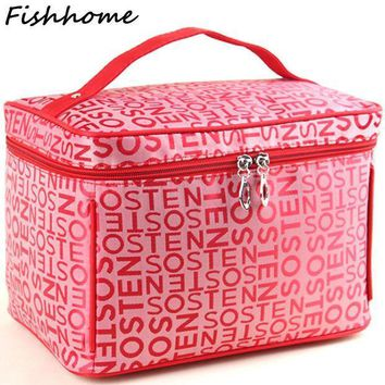 2017 Extra Large Capacity Cosmetic Bag High Quality Women Waterproof Travel Toiletry Bag Necessaire Organizer Make Up Bags Cq101