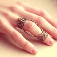 Pair of Retro Vintage Lace Knuckle Rings - Free Shipping - Made to order :)