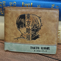 Tokyo Ghoul Wallet With Colin Pocket Zipper Pouch