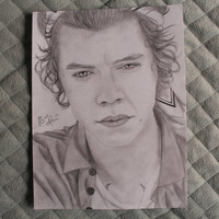 Harry Styles - One Direction ORIGINAL Pencil Drawing