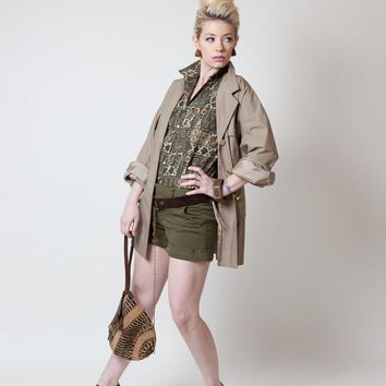 Vintage Khaki Safari Jacket
