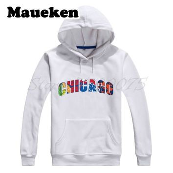 Men Hoodies Chicago All Day Bears Bulls Blackhawks Cubs Combination Sweatshirts Hooded Thick Autumn Winter W17101008