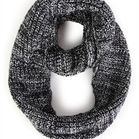 Marled Winter Knit Infinity Scarf