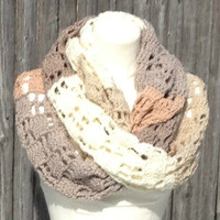 Super Extra Long Scarf Shades of Beige  Crochet Pattern PDF File Not a Finished Product