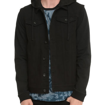 RUDE Black Zip-Off Sleeve Jacket