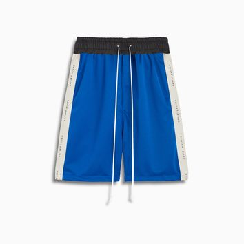 roaming gym short / cobalt + ivory