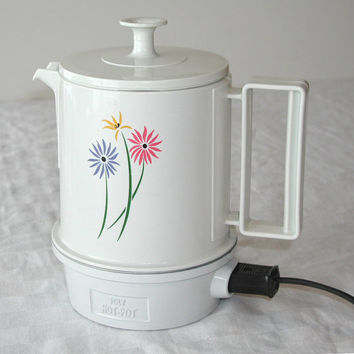 Regal 5 Cup Poly Hot Pot Beverage Warmer - Pretty Flower Design