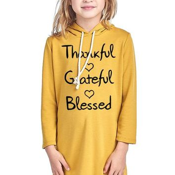 THANKFUL GRATEFUL BLESSED W/ HEART DESIGN FRENCH