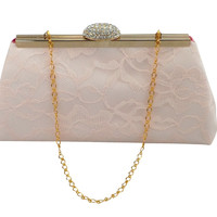 Blush Pink and Fuchsia Bridal Clutch
