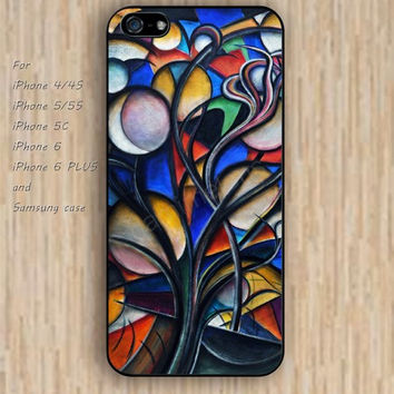 iPhone 5s 6 case cartoon Dream catcher colorful tree case Moon Tree phone case iphone case,ipod case,samsung galaxy case available plastic rubber case waterproof B457